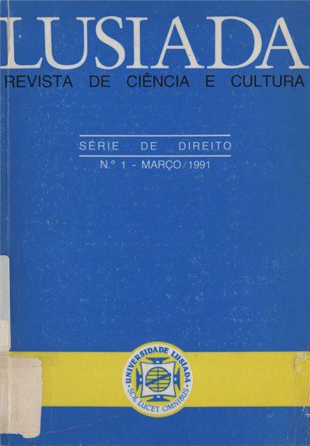 Lusíada. Revista de ciência e cultura. Direito(Nº.1, [1991])